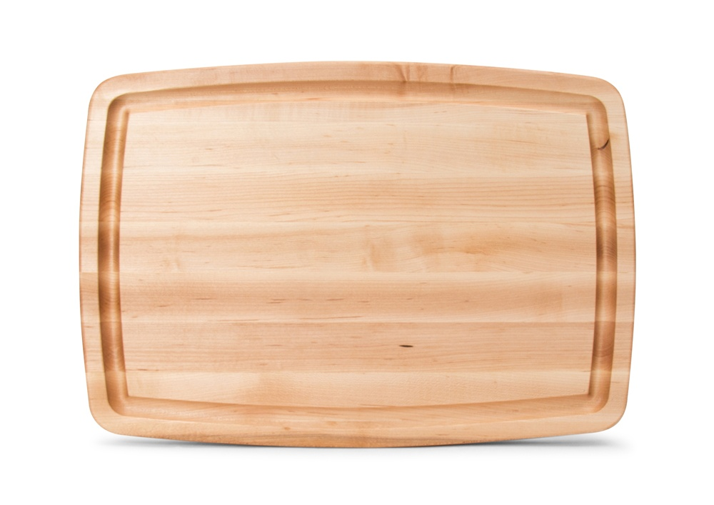 Boos Reversible Contoured Maple Board w/ Finger Grips & Juice Groove