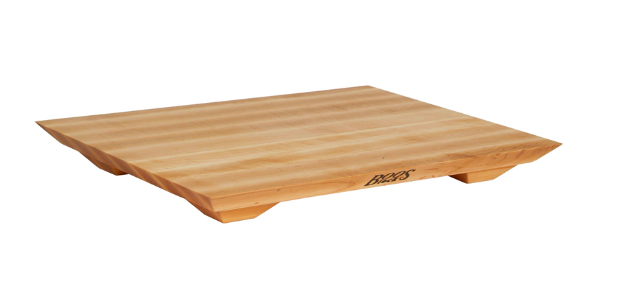 Boos maple fusion cutting board on raised feet