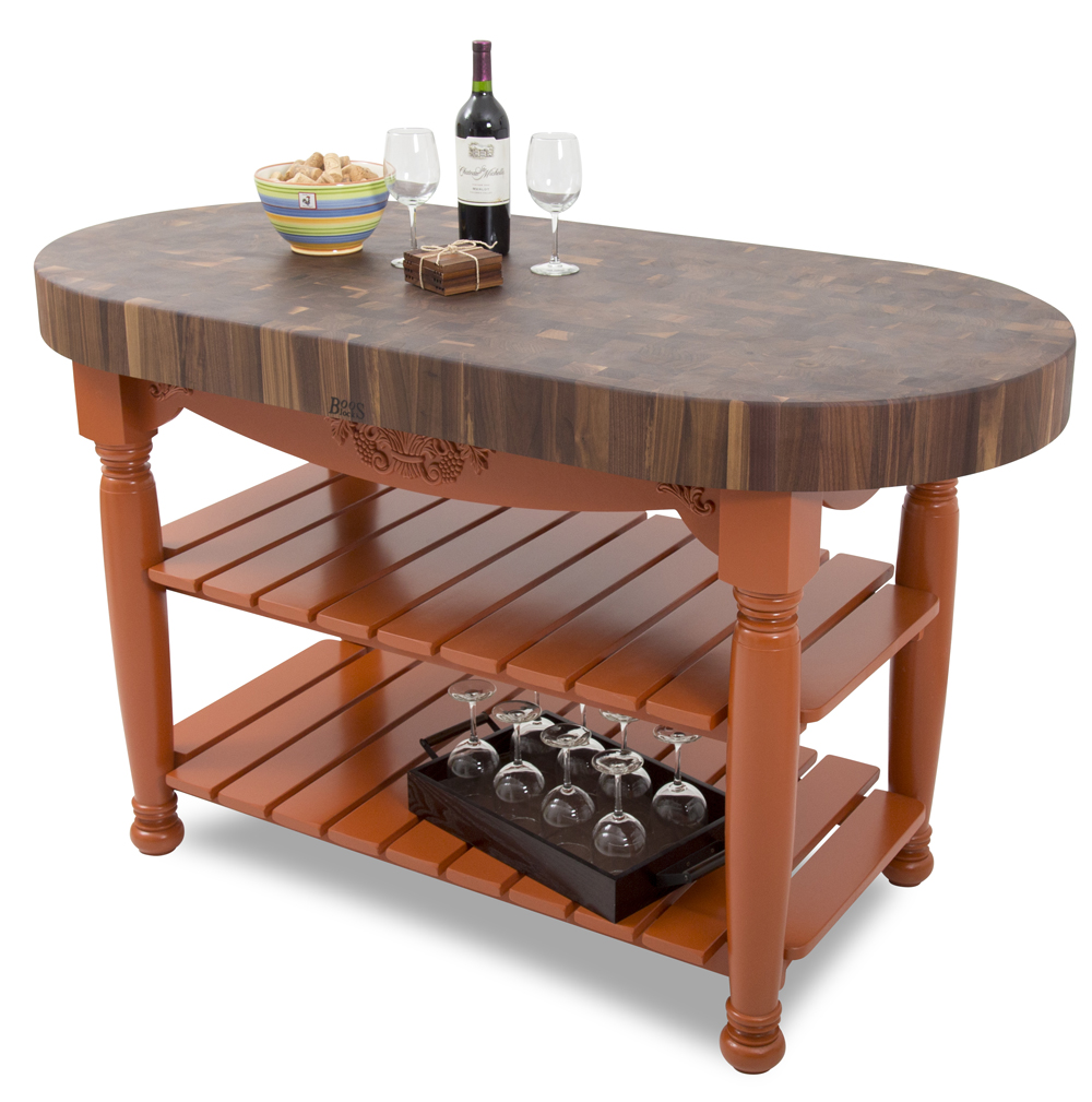 John Boos Walnut Harvest Table | Oval Island