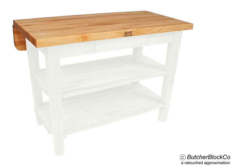 John Boos Kitchen Island Bar Butcher Block With Alabaster Base