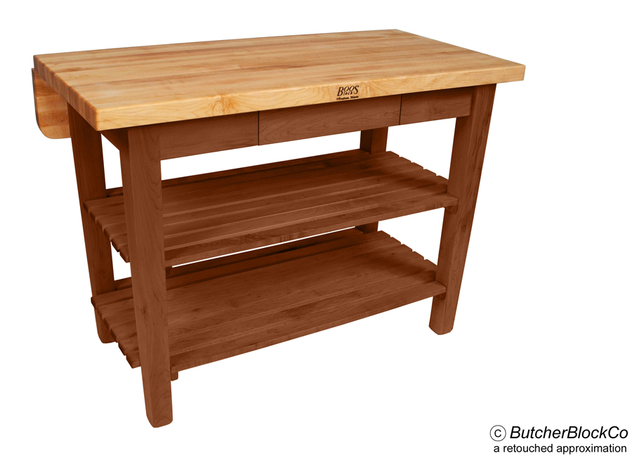 Boos Kitchen Island Bar in Cherry Stain
