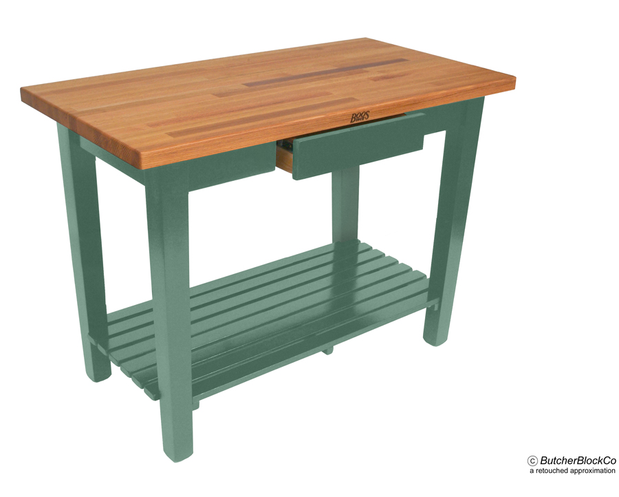 "Boos ""OC"" Oak Country Table Basil Base and one shelf"