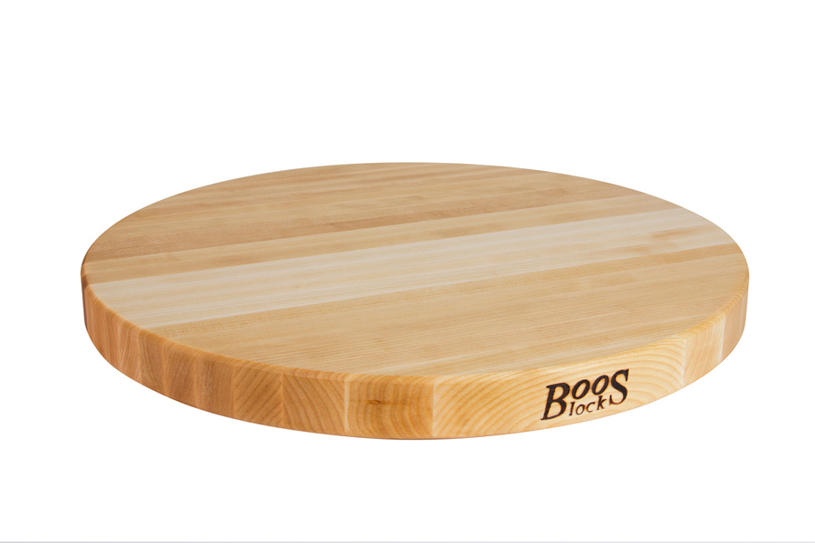 Reversible 18 in. round maple bread board