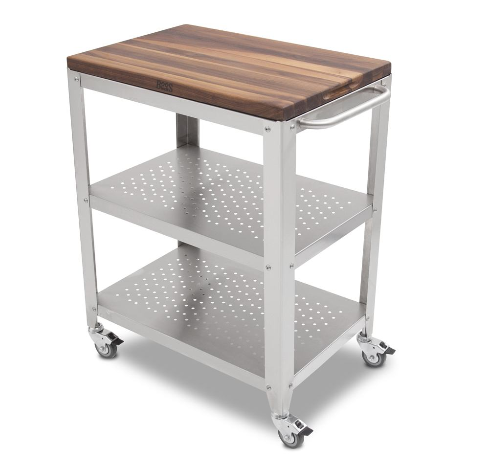 Boos Walnut Cucina Culinarte Cart – Removable Butcher Block Top
