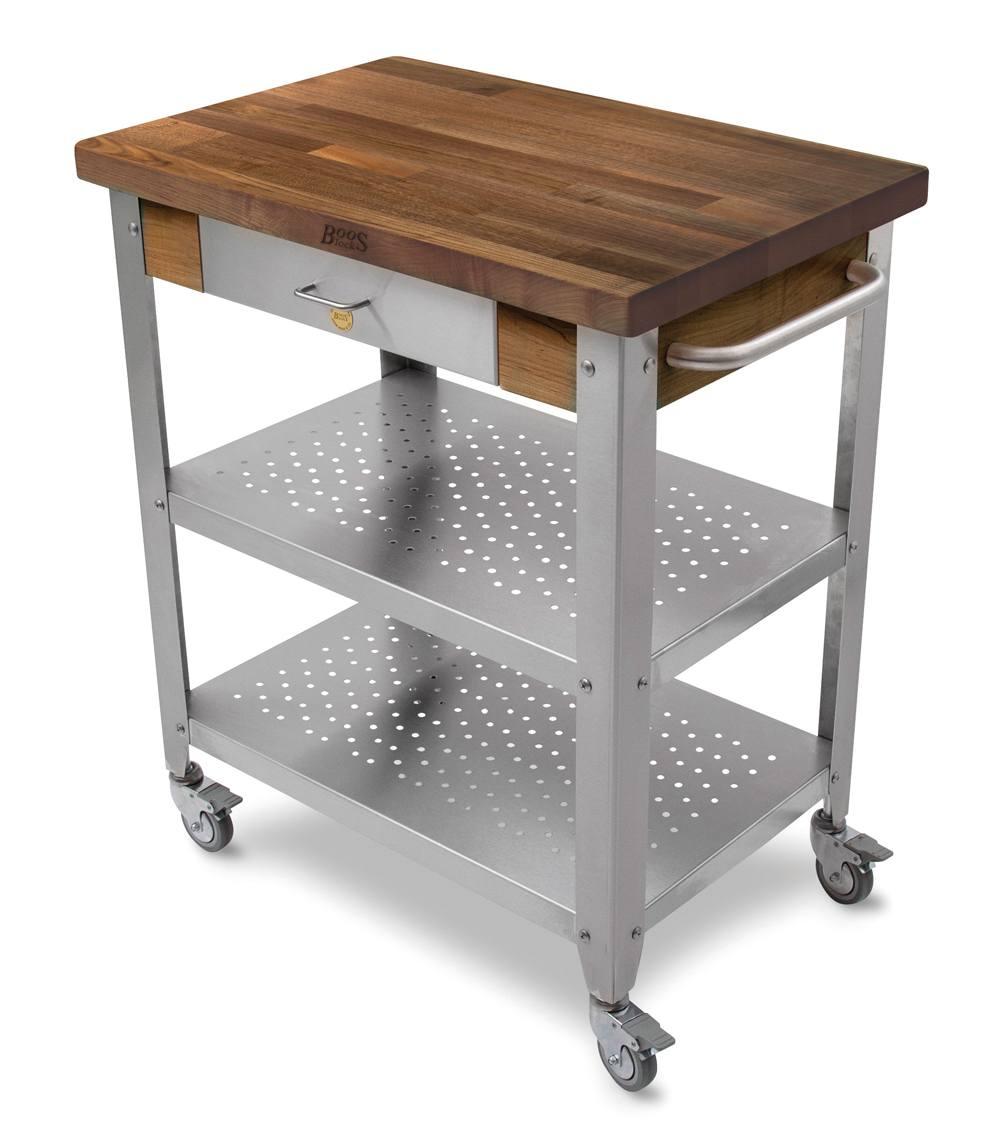 Boos Walnut Cucina Elegante Cart - 30