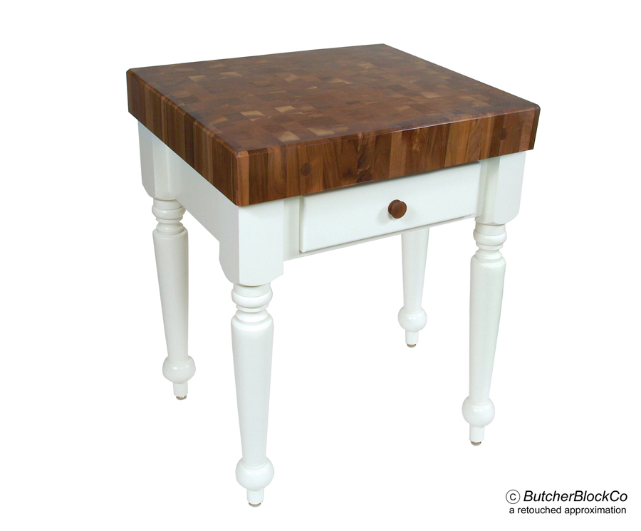 Boos Walnut Rustica – Walnut Butcher Block on Alabaster Base