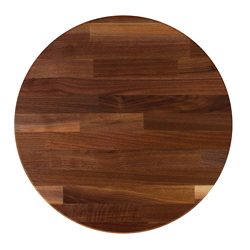Round Blended Walnut Table Top