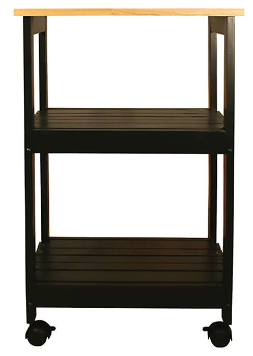 Catskill Black Lacquer Kitchen Trolley - 21