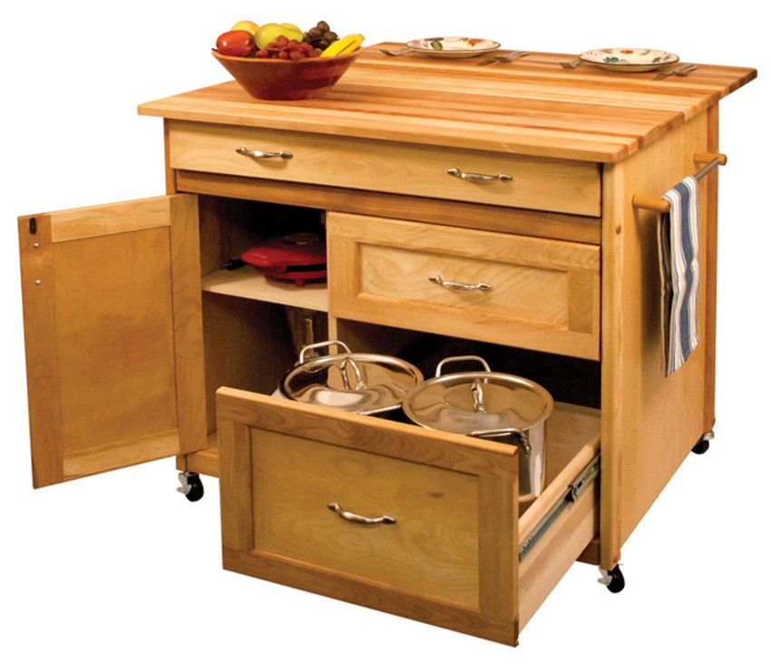 Catskill Deep Drawer Kitchen Island with 38