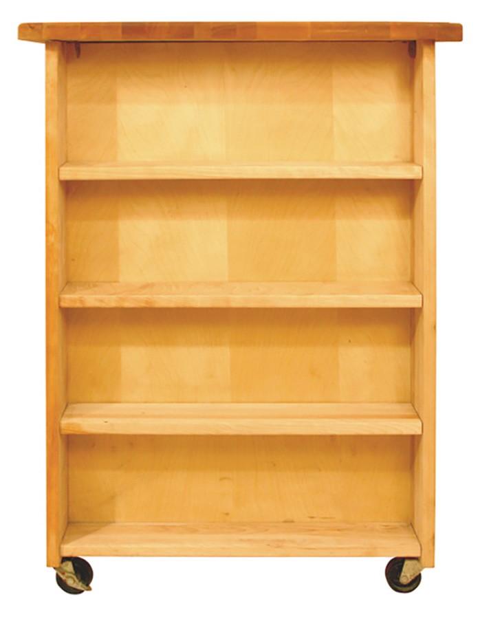 Catskill Deep Storage Work Center - 40x24 Portable Island w/ Side Shelves