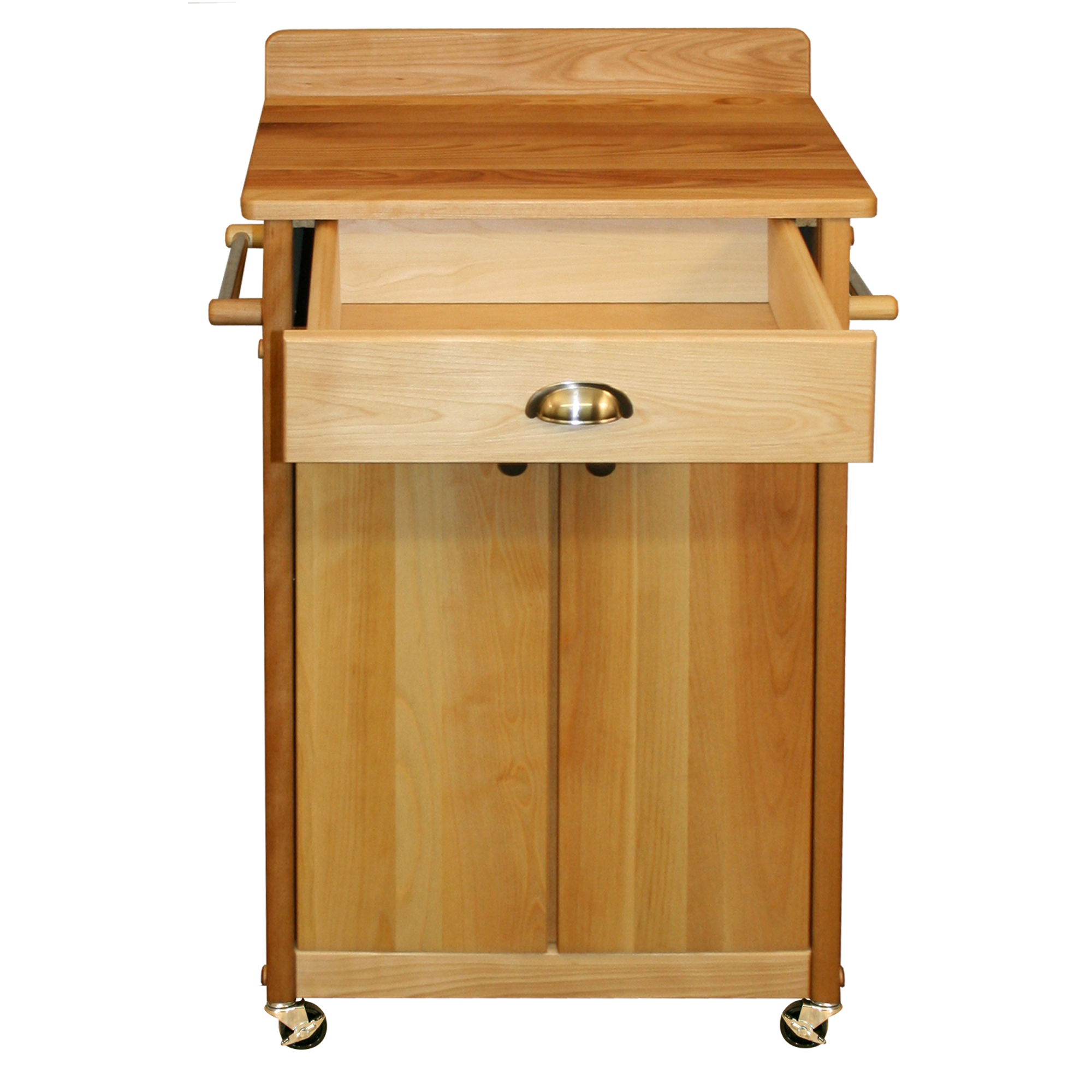 Catskill Economy Butcher Block w/ Backsplash Cart - 23