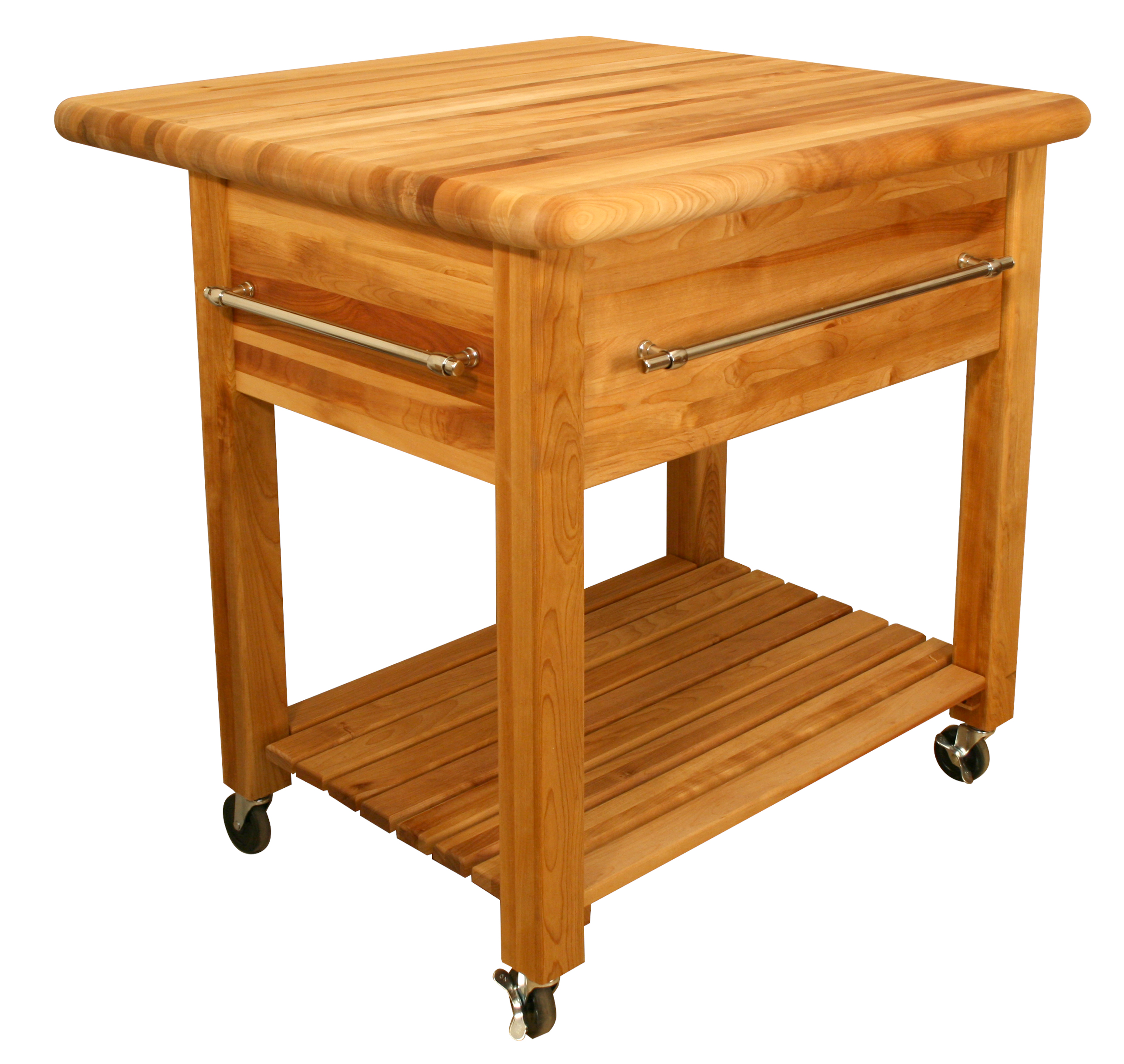 Butcher block kitchen carts john boos catskill - Small butcher block island ...