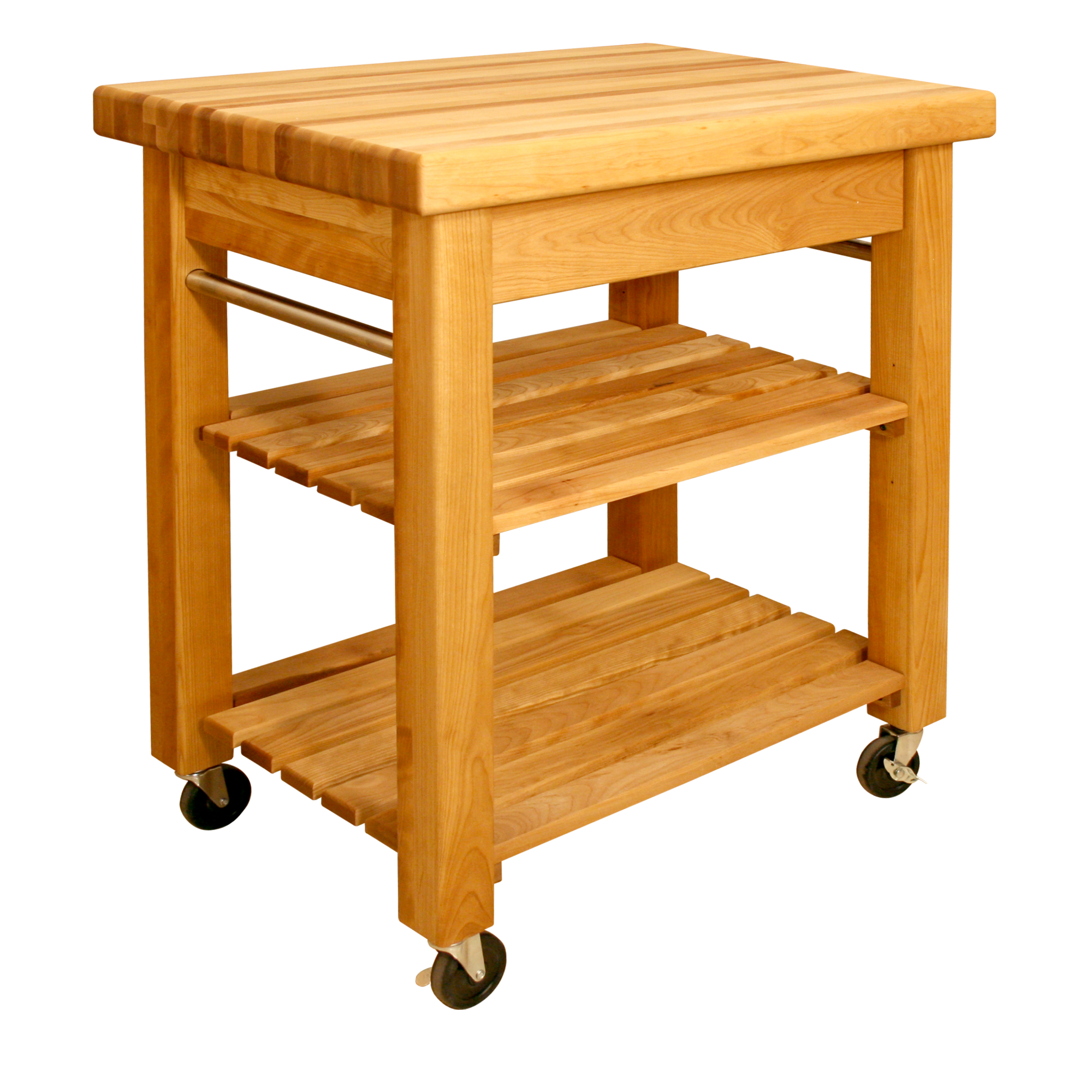 Movable kitchen islands rolling on wheels mobile - Small butcher block island ...