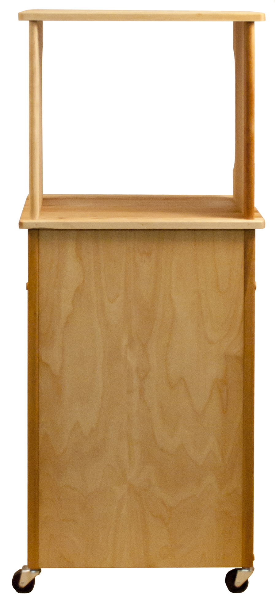 Catskill Microwave Cart Open Shelf Closed Cabinet