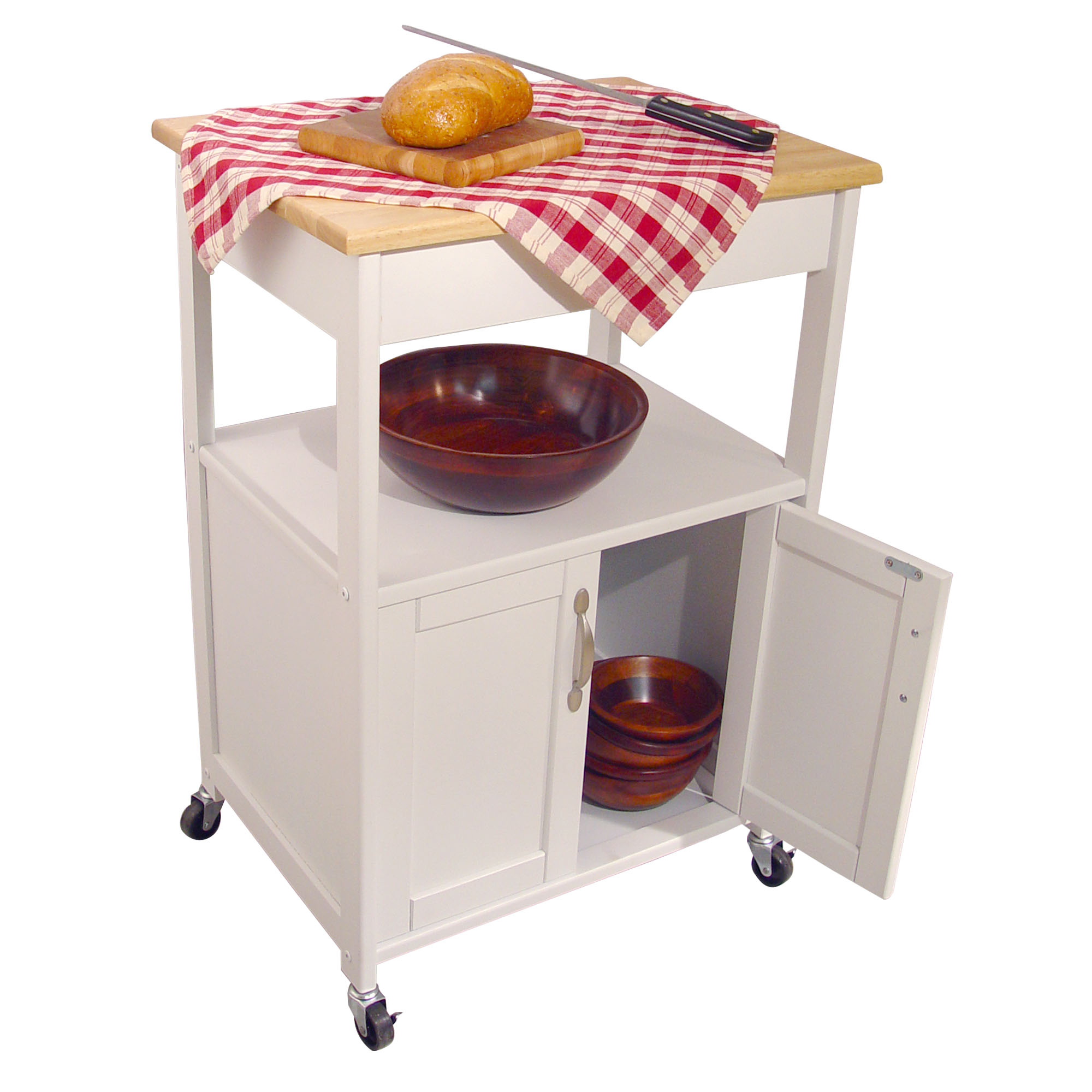 Catskill Open-Shelf White Kitchen Trolley - 23