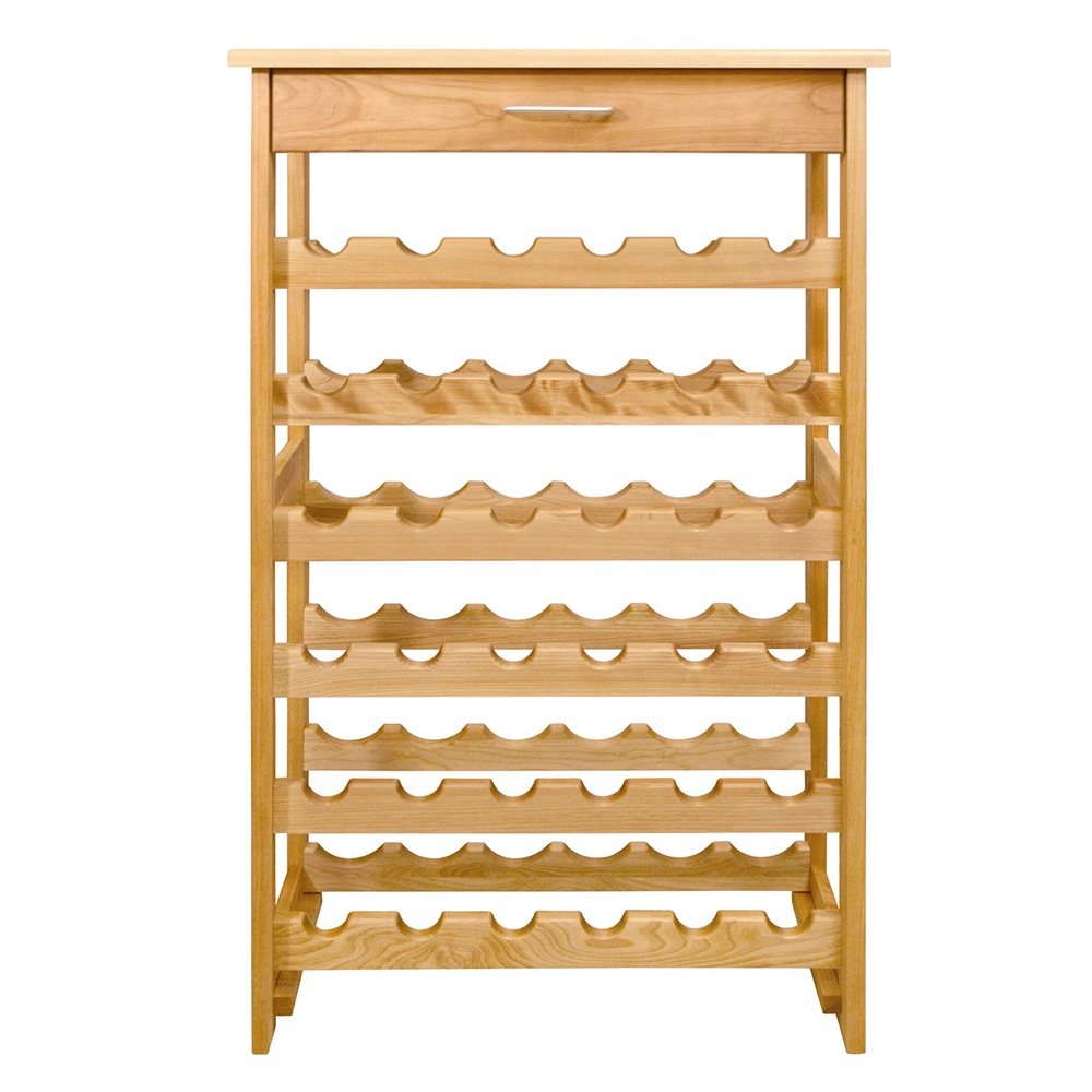 Catskill Wine Rack - Hardwood Construction, Holds 36 Bottles