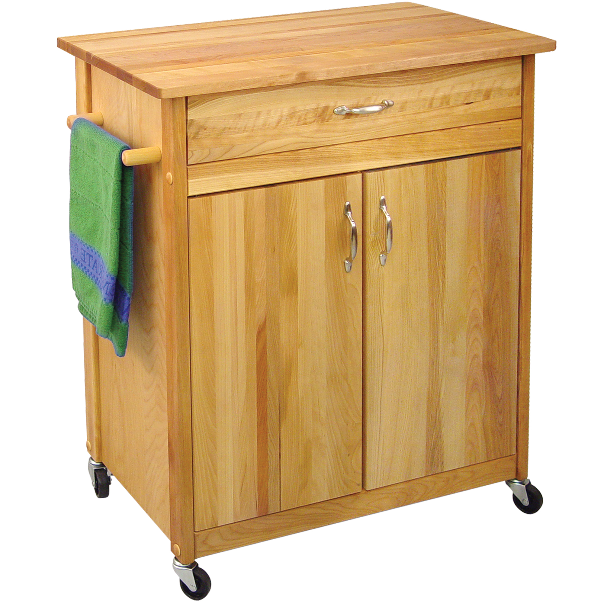 catskill 34 x 17 butcher block cart