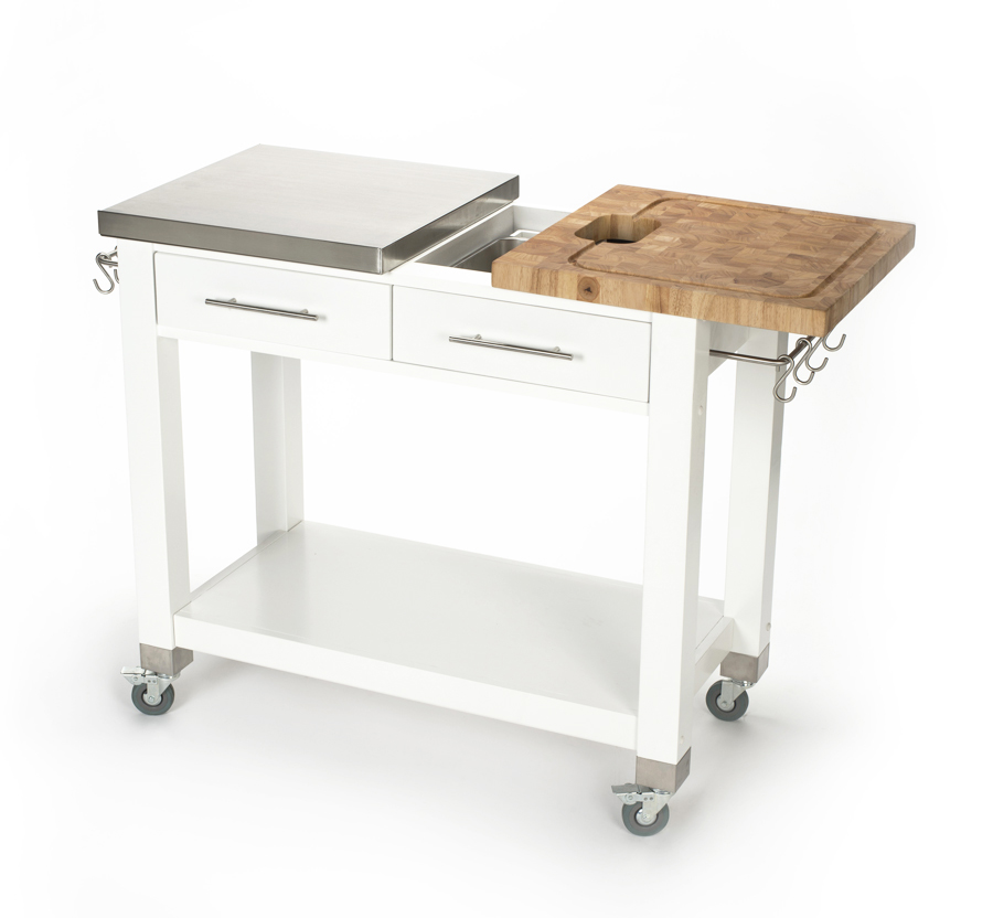 Chris & Chris Butcher Block & Stainless Steel Work Station