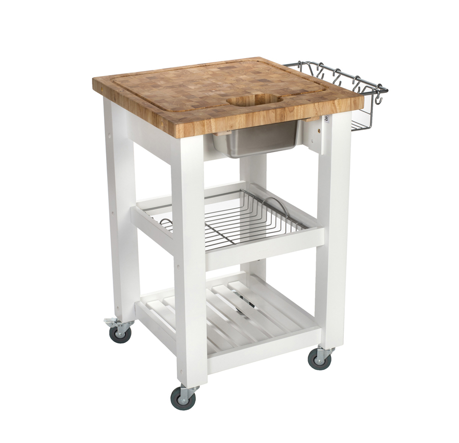 Chris & Chris Chef Series Work Station - 24 x 24, White Base