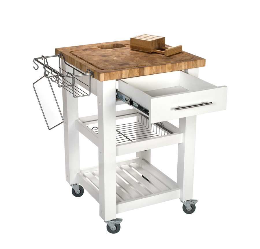 Chris & Chris Chef Series Work Station with White Base
