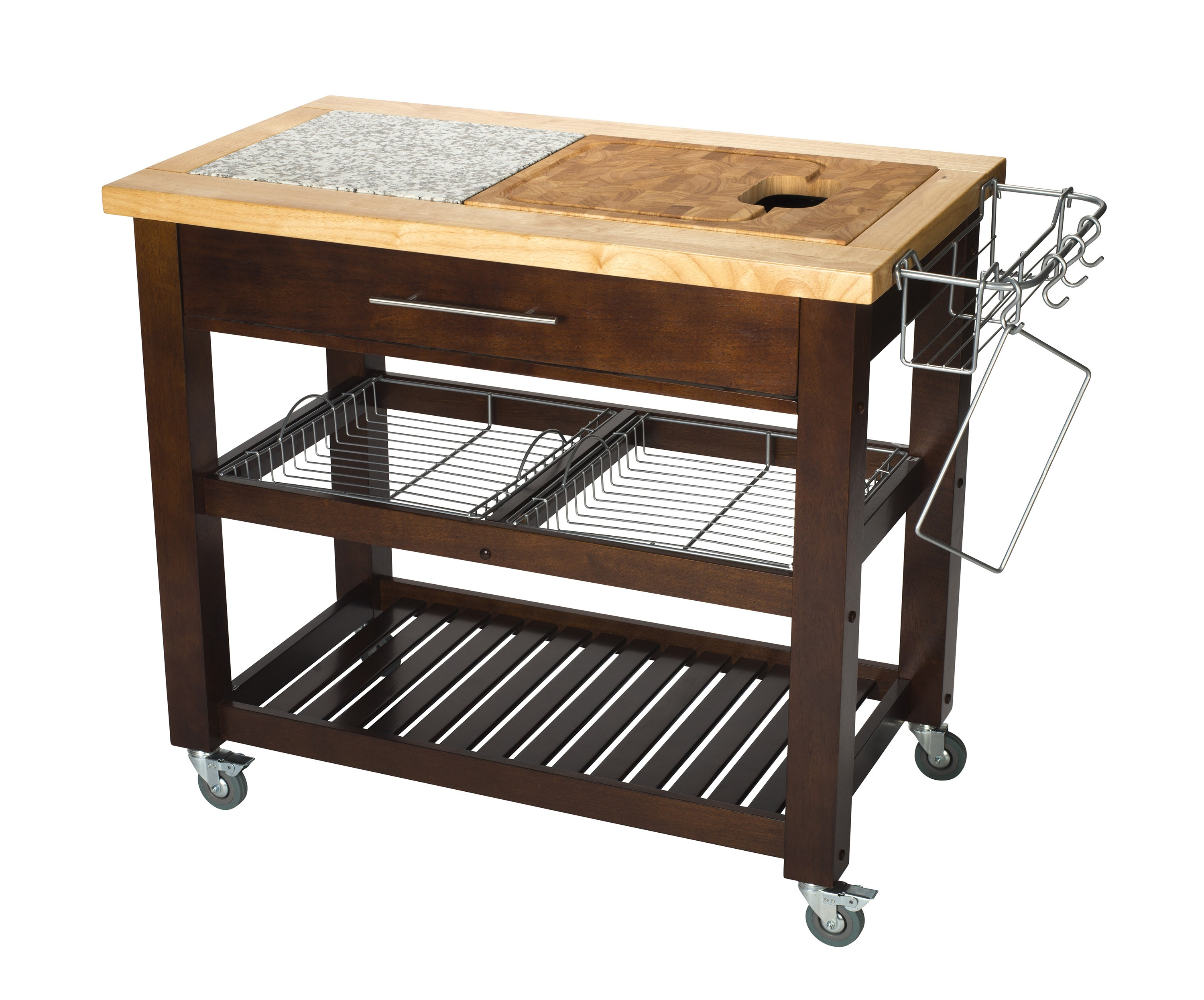Chris & Chris Granite & Rubberwood-Top  Work Station - 24x40, Espresso