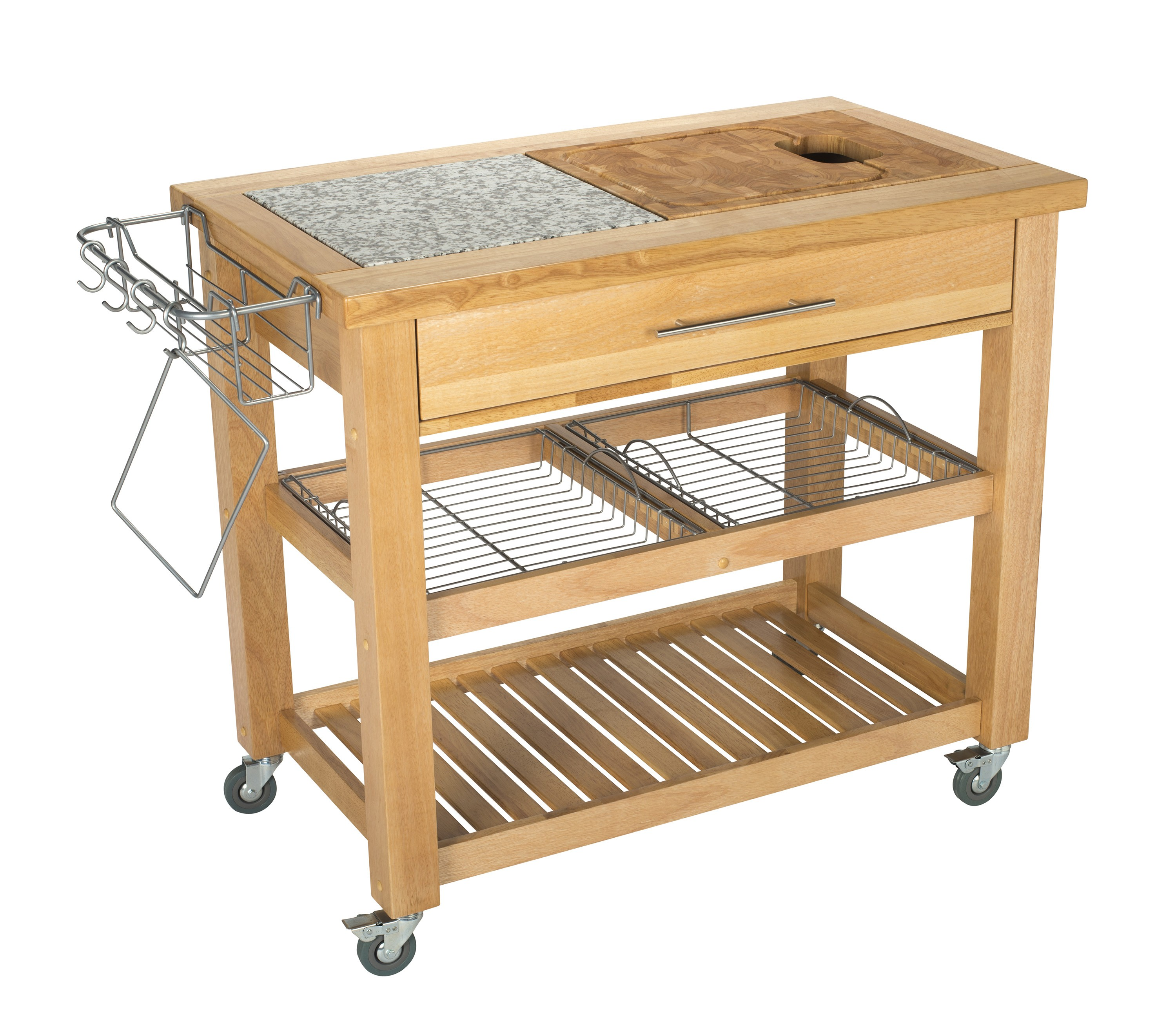 Chris & Chris Granite & Rubberwood-Top Work Station, 24x40, Natural