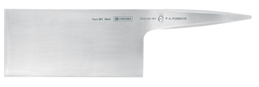 Chroma Type 301 Stainless Steel Chinese Cleaver for Meat, Cheese, Vegetables
