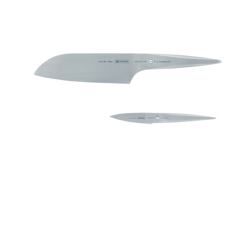 Stainless Steel 2-Knife Set