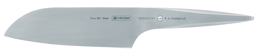Chroma Type 301 Santoku General-Purpose Kitchen Knife - 7-1/4