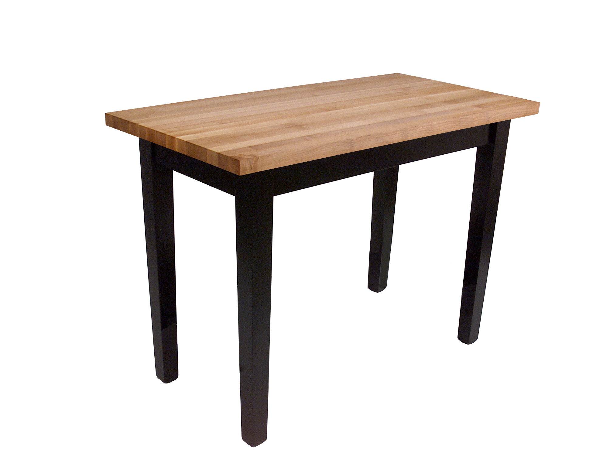Classic Boos Country Table with black base