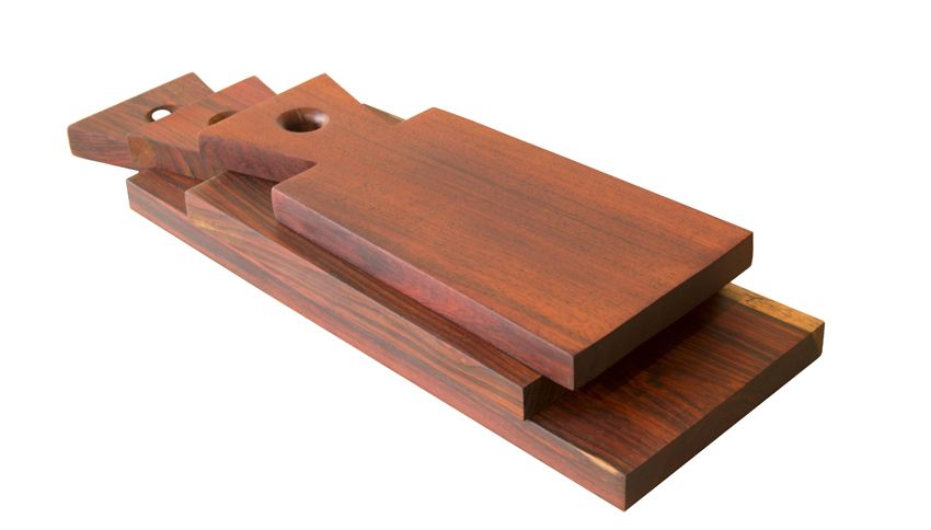 3 Gorgeous Cocobolo-Wood Cutting or Serving Boards - from Nicahome
