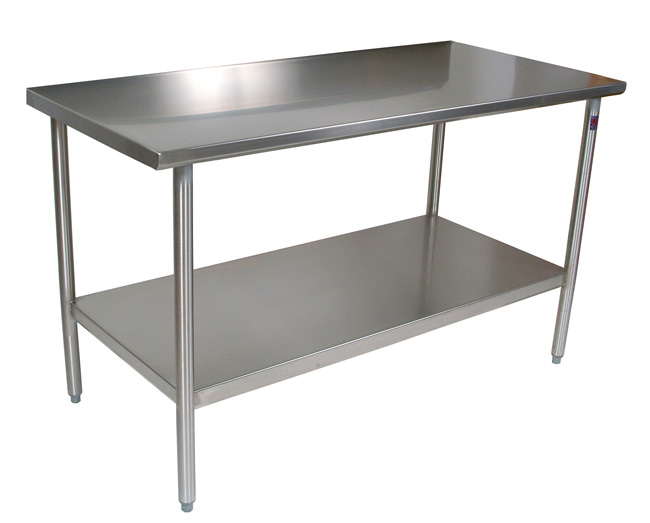 John Boos Cucina Tavalo Stainless Steel Work Table with SS Shelf
