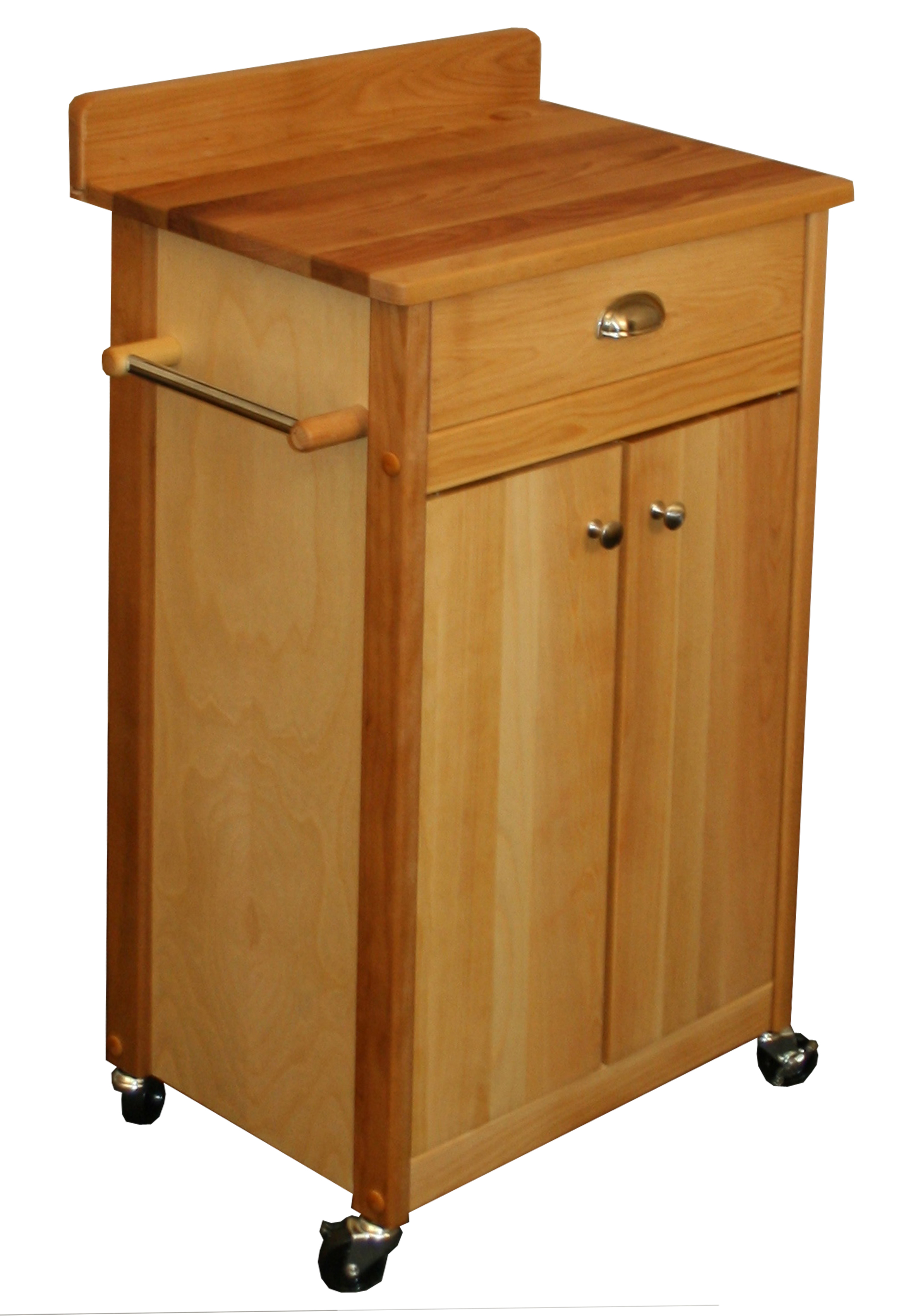 Catskill Butcher Block Cart with Backsplash