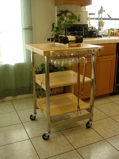 folding kitchen island ideal for barbecue fanatics. Black Bedroom Furniture Sets. Home Design Ideas