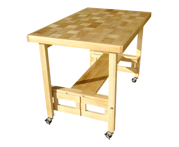 Kitchen Work Tables On Wheels