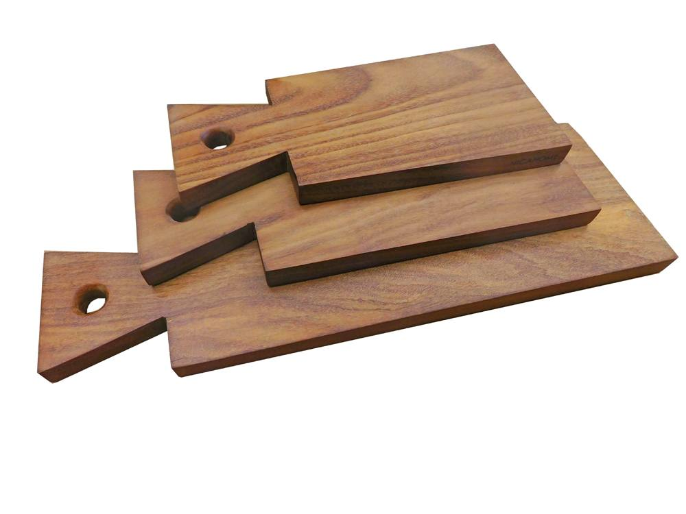 Set of 3 Nicahome Frijolillo Wood Serving Boards - Small, Med., Large