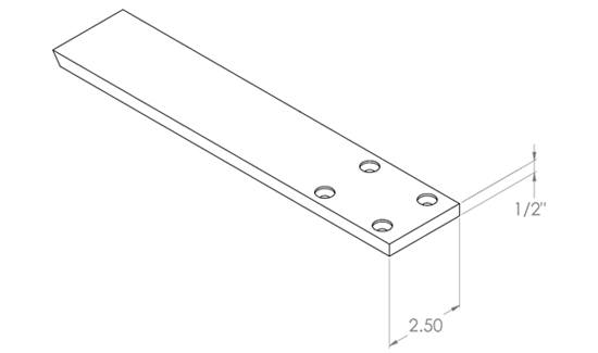 Hidden Flat Bracket for a Pony Wall with a Single Overhang