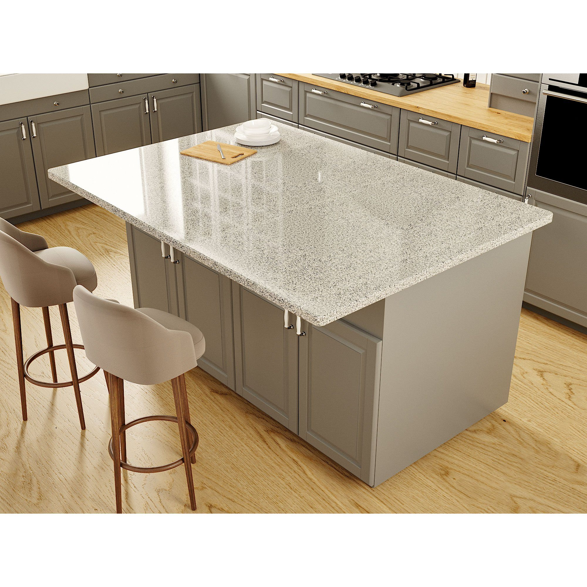 Hidden L Bracket for Supporting an Island or Countertop Overhang