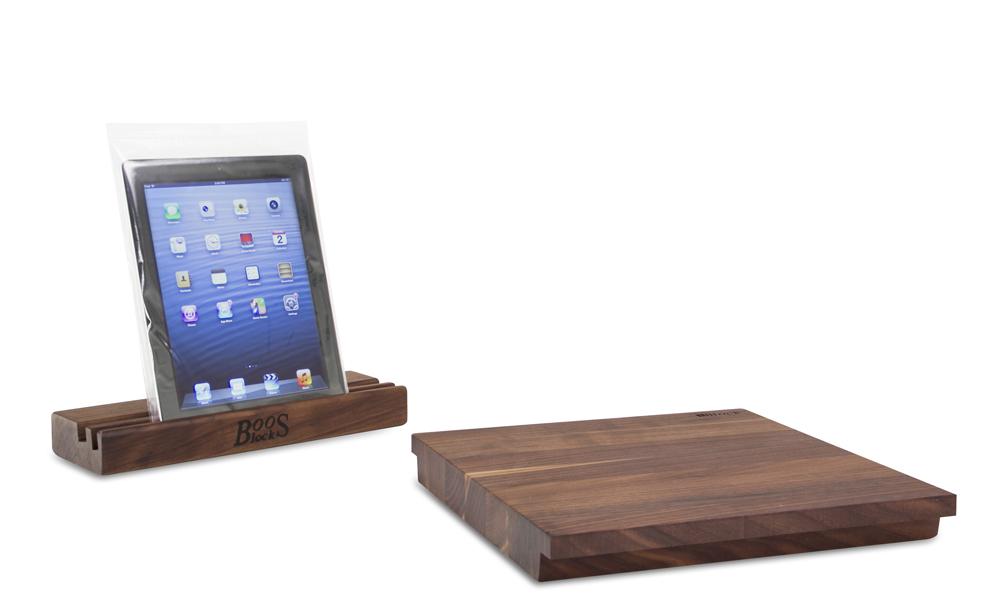John Boos Walnut I-block cutting board and stand