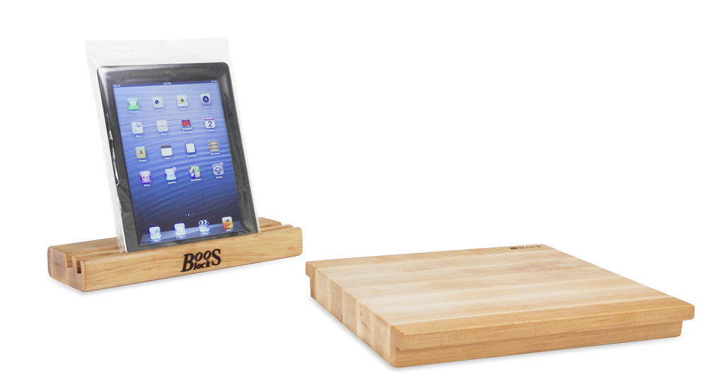 Maple iblock cutting board and stand