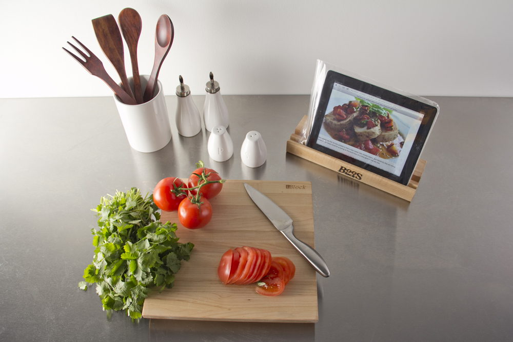 John Boos I-Block Maple Cutting Board with Stand