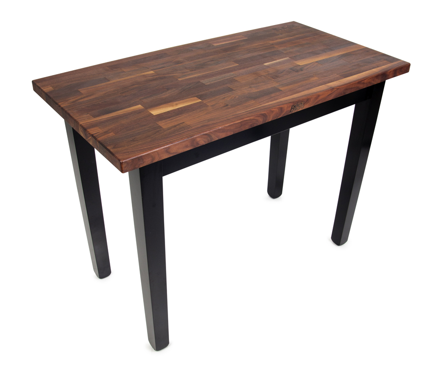 John Boos Walnut Country Butcher Block Table