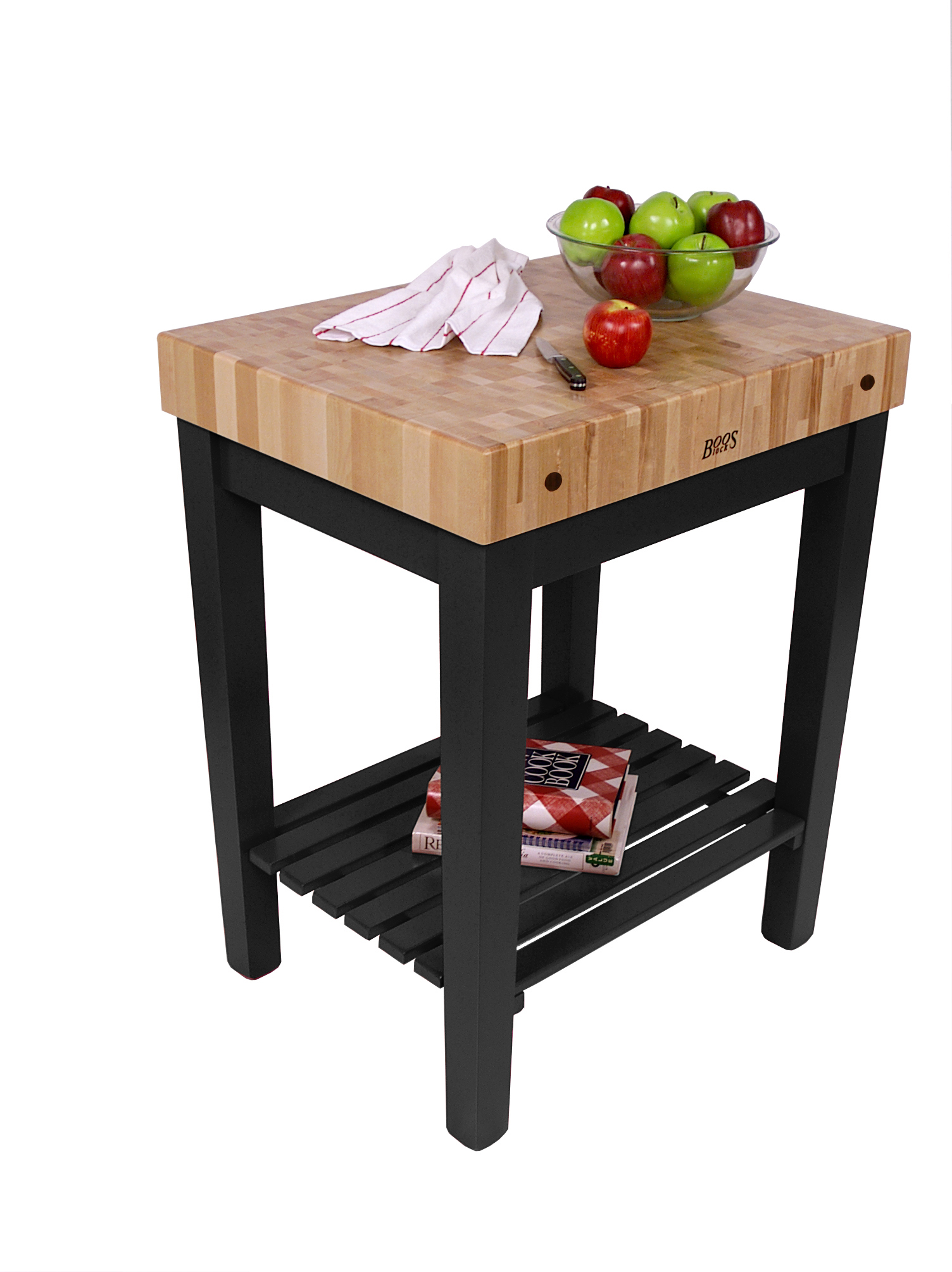 Kitchen Island 30 X 24 john boos chef's block with shelf | butcher block