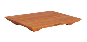 Boos cherry fusion cutting board on feet