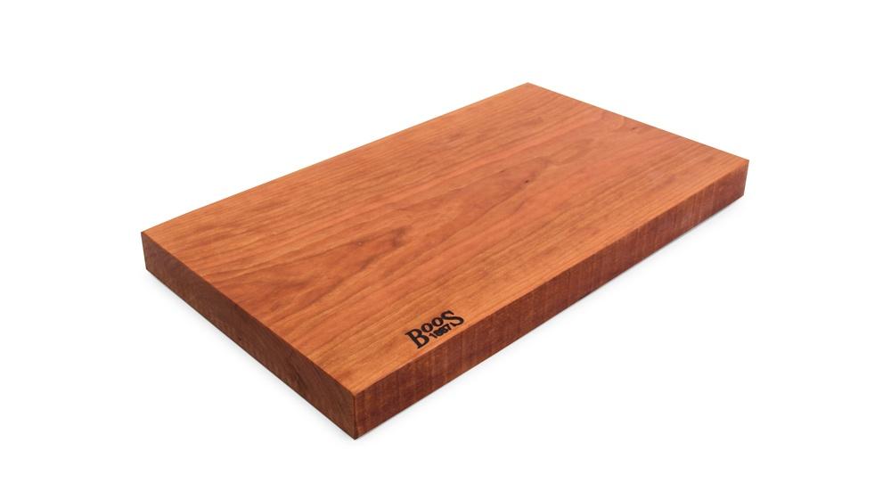 John Boos Cherry Rustic-Edge Cutting Board - 3 Sizes, All Reversible