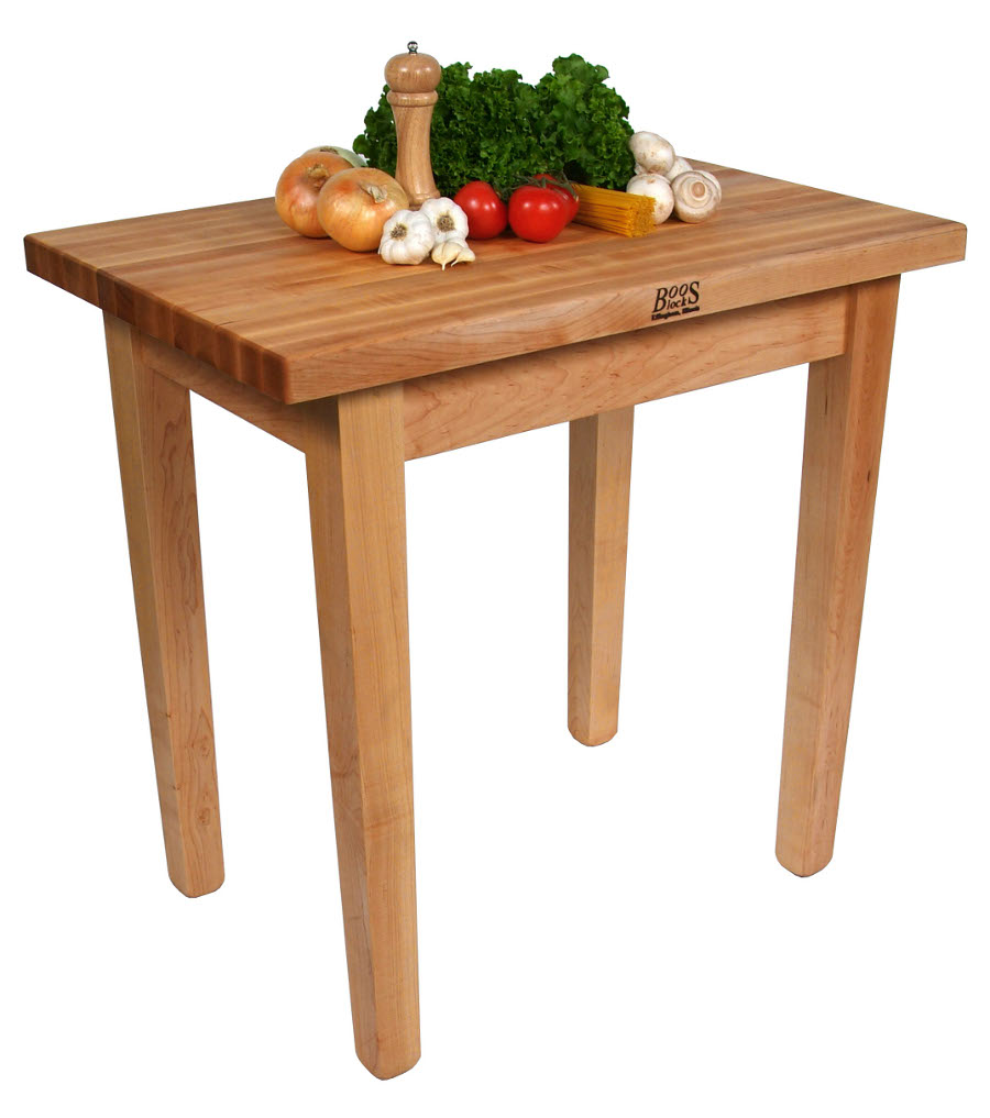 Boos country style butcher block dining table 7 sizes 36x24 to 60x36