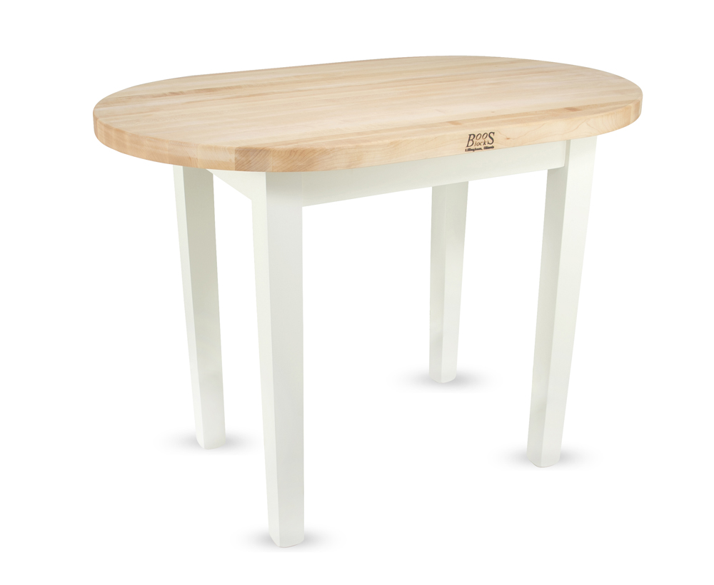 Boos butcher block table elliptical