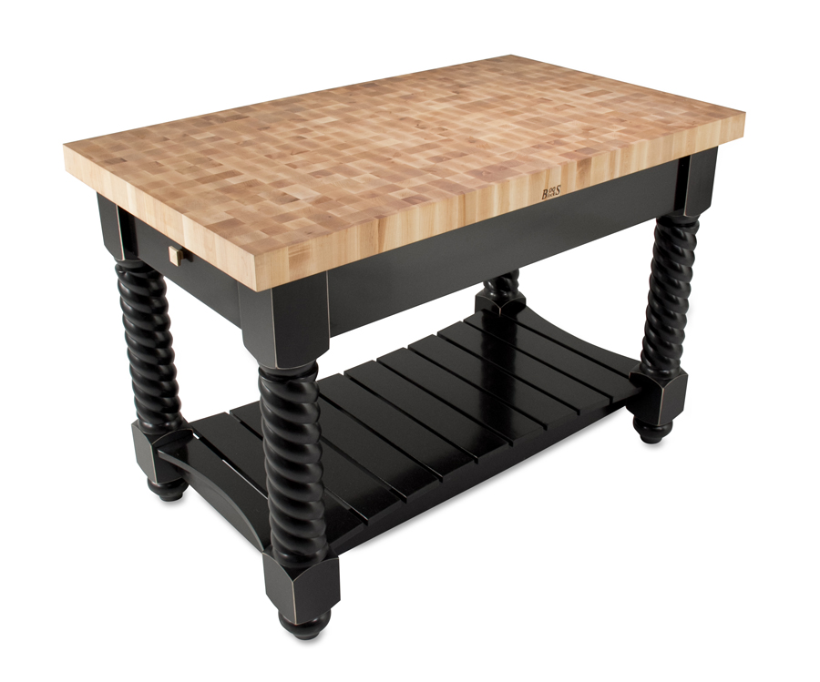Boos Tuscan Isle Kitchen Island - end-grain maple island table