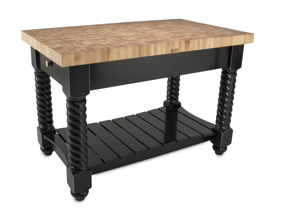 Butcher Block Red Kitchen Island : Boos Tuscan Isle Maple End Grain Butcher Block Island