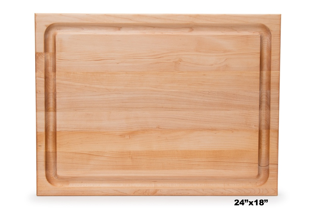 Boos Grooved Maple Barbecue Board w/ Finger Grips & Juice Grooves